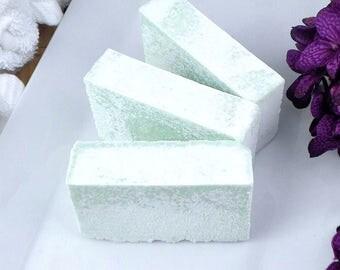 Sea Salt Soap - Salt Bar - Rosemary Mint Soap - Exfoliating Soap - Handcrafted Soap - Artisan Soap - Cold Process Soap - Coconut Oil Soap