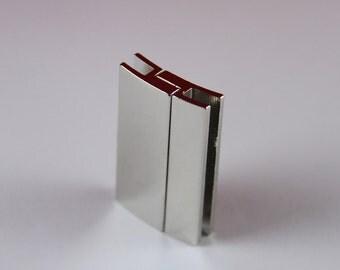 5/10 MADE in EUROPE zamak flat cord magnetic clasp, 40mm flat cord clasp, large magnetic clasp (zaml70) qty1