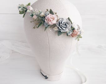 Bridal crown, Floral crown, wedding flower crown, flower crown, wedding crown, floral head wreath, boho hair accessories