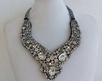 Statement necklace, Stunning necklace, Nicole necklace, Statement, Bib necklace, Crystal collar, Awesome necklace, Collar necklace IV191