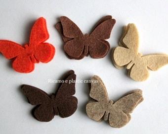 Felt Applique, Felt Butterfly, 15 Die Cut Felt Butterfly, Die Cut Shapes, Felt Shapes, Multi Coloured Butterfly, Craft Embellishment, Shapes