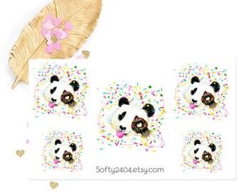 Panda sticker, life planner sticker for kikki k, filofax or erin condren, animal sticker