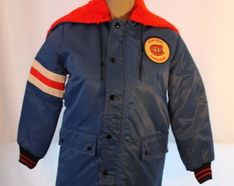 Vintage Montreal Canadiens Hockey Jacket - Boys size 12 Winter Coat - NOS - Vintage NHL - Free Shipping within Canada and  USA