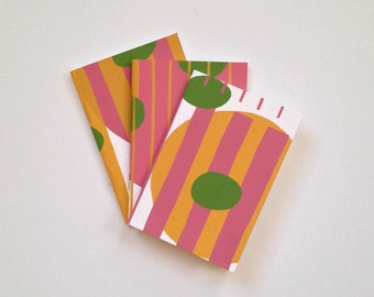 Screen Printed Notebook - Randomly Patterned