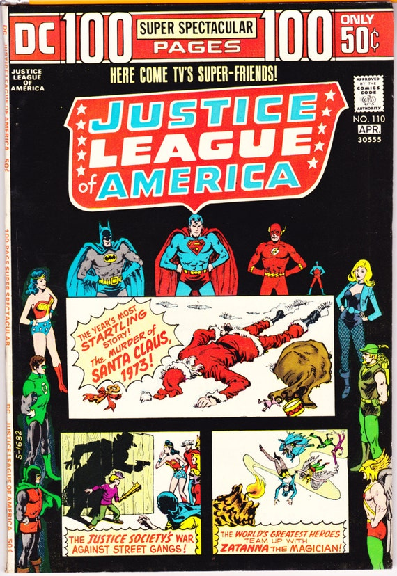 Justice League 110 Santa Claus Killer Christmas Comic