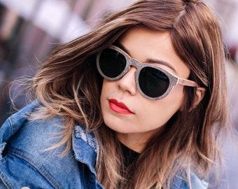 Womens Designer Shades, Wooden Stone Ply Eyewear, Premium Polarized Sunglasses | Womens Eyewear