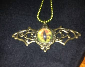 Winged Dragon's Eye Pendant
