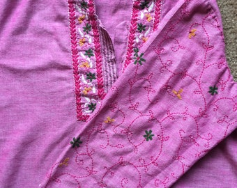 70s Embroidered Top