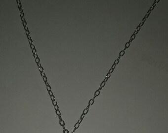 1973 D Dime Necklace, Silver Chain