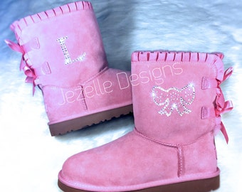 Kid's Swarovski UGGS -Personalized Custom Designs -AUTHENTIC Uggs Hand Jeweled w/ Genuine Swarovski Crystals | By Jezelle Designs