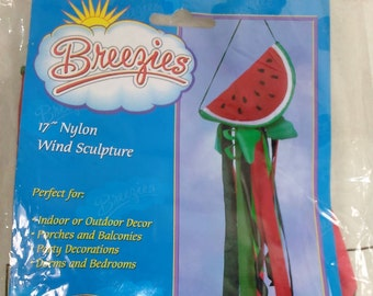 """Wind Sculpture Watermelon/17"""" Nylon/Indoor Or Outdoor/New (N)"""