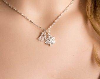 Silver leaf necklace, leaf jewellery, leaf pendant,nature necklace, maple leaf jewellery, leaf necklace, leaves jewellery, tree,, SPTRIN0119