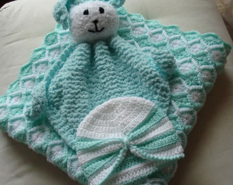 Baby Set in Mint Green and White