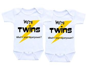 Twins boy and girl Twins Onsie baby boy twins baby gift twin outfits twin babies boy girl twin outfits boy girl twins twin boy outfits