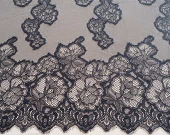 French lace with a black  thread high quality