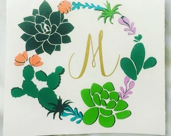 Cactus Decal Etsy