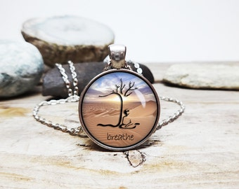 Mindfulness meditation Necklace Yoga teacher gift tree of life necklace bodhi tree necklace Yoga Necklace Buddhism necklace buddhist jewelry