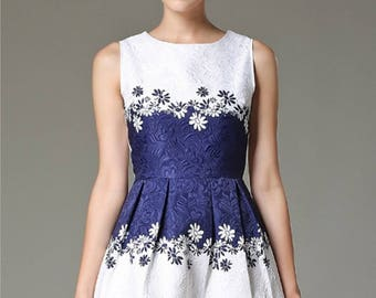 Blue White dress by Vassiliki