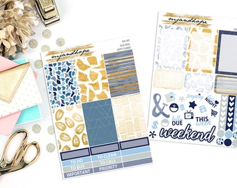 Blue Royal | Happy Planner Weekly Sticker Kit | HPK | Planner Stickers