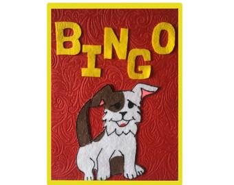 BINGO Felt Board Story Set, Montessori Materials Preschool Activity, Flannel Board