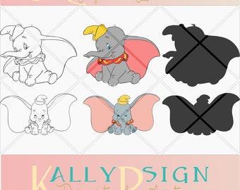 dumbo svg, Disney svg, cricut,digital download, Disney svg files, vector art, dumbo ears, dumbo nursery, dumbo baby, dumbo silhouette