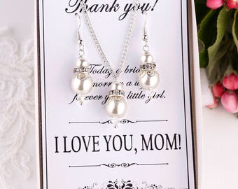 Mother of the bride gift from daughter Wedding gift for mom Mother of the groom gift Mother of bride gift Mother of the bride jewelry Ivory