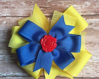 Beauty and the Beast Belle-inspired hairbow