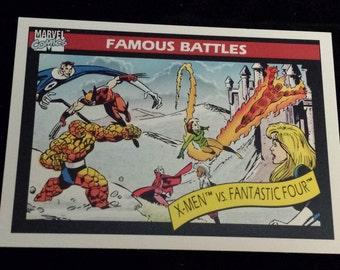 X-Men vs Fantastic Four #101 - 1990 Marvel Universe Series 1 Base Trading Card