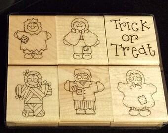 JRL Design, Co. S425 Tricks & Treats Stamp Set of 6