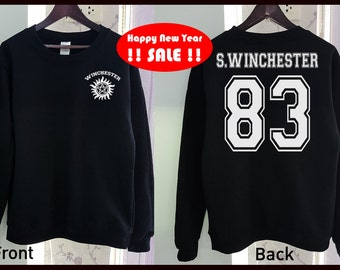 SALE !! Sam Winchester Sweatshirt Supernatural Shirt Funny Gildan 2 Colors Clothing Gray Black Grey