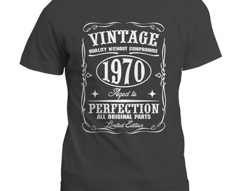 Vintage Aged To Perfection Gift T Shirt | Tee | Top | Message Us The Year You Would Like