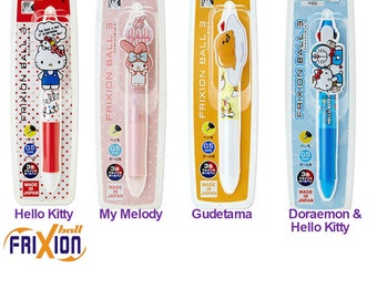 Frixion Multi 3 Pen: Hello Kitty / My Melody / Gudetama / Very Rare Doraemon & Hello Kitty