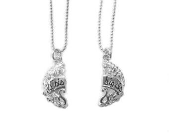 Sterling Silver Little Sister & Big Sister Splitable Charm