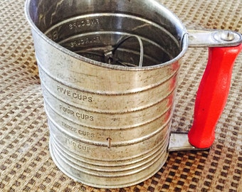 Bromwells Five Cup Flour Sifter Vintage