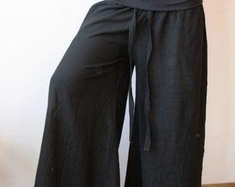 S-L size/Loose women fisherman style pants/wide pants/pregnancy pants/summer cotton pants/over-sized pants/hippie pants/ low/high wast pants