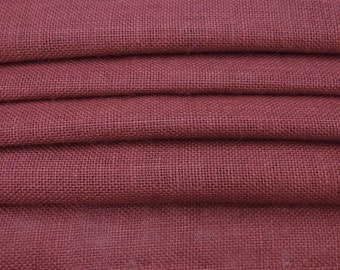 "Maroon Burlap, Maroon Jute Fabric, Natural Fabric, Home Decor Burlap Fabric, Sewing Craft, 50"" Inch Wide Jute Fabric By The Yard ZJC1L"