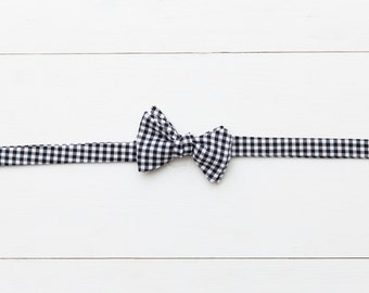 "Boys Bow Tie ""Black Gingham"""