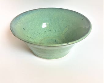 Green and Blue Speckled Bowl
