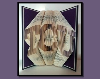 103 Folded Book Art: TCU, book sculpture, paper folding, paper anniversary, book origami, altered book, paper sculpture.