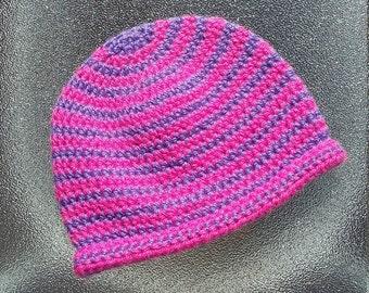 Baby's Hat, Crochet Hat, Stripey Hat,  Beanie Hat, Winter Hat, 3-6 month's Baby Hat, Woolly Hat, Knitted Hat