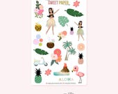 Decorative Planner Stickers | ALOHA
