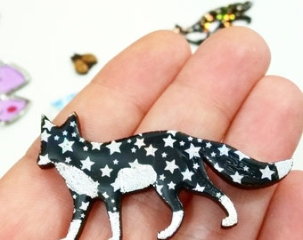 Cosmos Fox // available as a brooch or necklace!