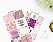 Magenta Planner Sticker Kit, for use with Erin Condren, Planner, Stickers, Mambi, Happy Planner, Create 36, Stickers