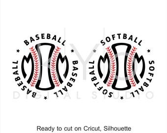 Baseball SVG, Softball SVG, Baseball Mom svg, Softball Mom svg, Baseball Softball stitches svg, svg cut files for Cricut and Silhouette