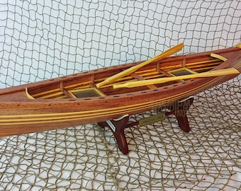 """24"""" Scale Handcrafted Canadian Canoe Display Model"""