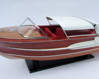 Century Coronado 1960 Wooden Model Boat Display Ready