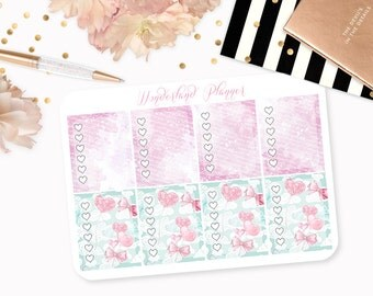 Teddy Bears - Love Heart Themed Planner Stickers // Full Box Checklists // Perfect for Erin Condren Vertical Life Planner