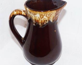 USA Brown Drip Glaze Vintage Jug  - 826