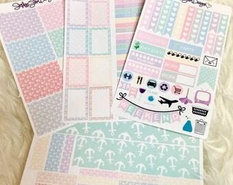Pastel Nautical World Weekly Sticker Kit | Erin Condren & Plum Paper Planner