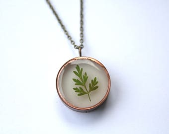 Pressed Leaf Necklace